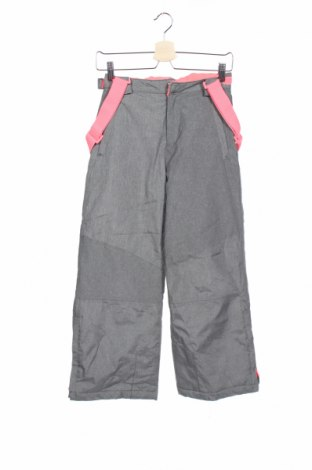 Детски панталон за зимни спортове Y.F.K., Размер 8-9y/ 134-140 см, Цвят Сив, Полиестер, Цена 17,01лв.