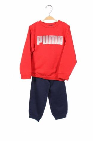 Детски спортен комплект PUMA, Размер 18-24m/ 86-98 см, Цвят Син, 68% памук, 32% полиестер, Цена 33,25лв.