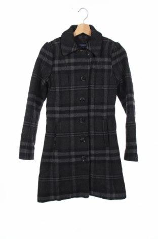 Детско палто Tommy Hilfiger, Размер 13-14y/ 164-168 см, Цвят Сив, 70% вълна, 30% полиестер, Цена 58,85лв.