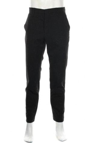 Мъжки панталон AllSaints, Размер L, Цвят Черен, 35% вълна, 35% вискоза, 28% полиестер, 2% коприна, Цена 45,36лв.