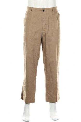 Ανδρικό παντελόνι Banana Republic, Μέγεθος L, Χρώμα  Μπέζ, 53% λινό, 47% βαμβάκι, Τιμή 17,93€
