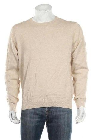 Мъжки пуловер A.W.Dunmore, Размер L, Цвят Бежов, Памук, Цена 13,28лв.