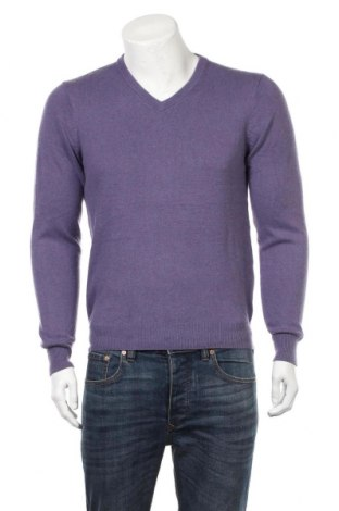 Мъжки пуловер A.W.Dunmore, Размер M, Цвят Лилав, 55% коприна, 45% кашмир, Цена 24,26лв.