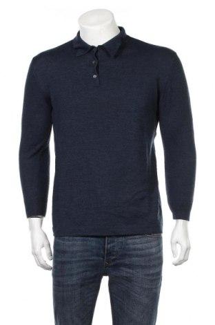 Мъжки пуловер Cyrillus, Размер M, Цвят Син, 70% мерино, 30% акрил, Цена 30,87лв.