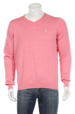 Мъжки пуловер Hampton Republic, Размер L, Цвят Розов, Памук, Цена 16,07лв.