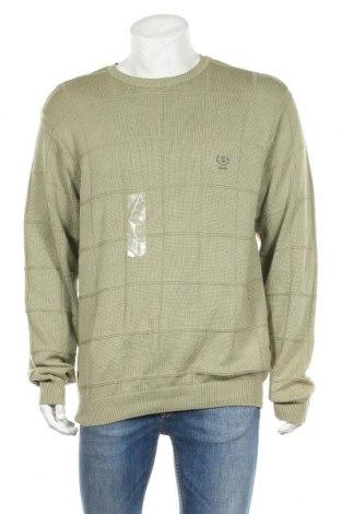 Мъжки пуловер Izod, Размер L, Цвят Зелен, Памук, Цена 23,89лв.