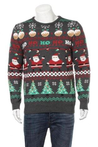 Мъжки пуловер Pull&Bear, Размер L, Цвят Многоцветен, 75% акрил, 25% полиестер, Цена 24,94лв.