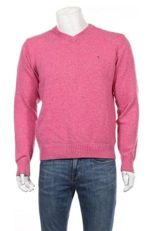 Мъжки пуловер Tommy Hilfiger, Размер L, Цвят Розов, Вълна, Цена 56,70лв.
