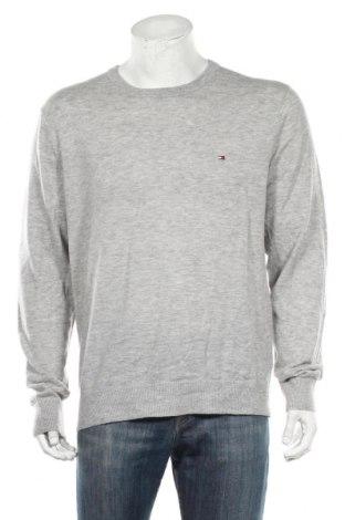 Мъжки пуловер Tommy Hilfiger, Размер XL, Цвят Сив, Вълна, Цена 128,68лв.