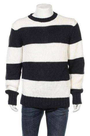 Мъжки пуловер Tommy Hilfiger, Размер L, Цвят Син, Памук, Цена 46,20лв.