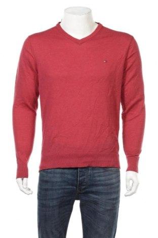 Мъжки пуловер Tommy Hilfiger, Размер L, Цвят Червен, Вълна, Цена 45,15лв.