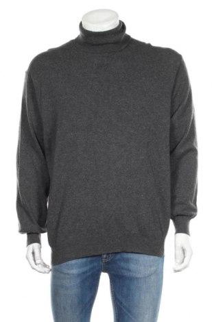 Мъжки пуловер United Colors Of Benetton, Размер L, Цвят Сив, 80% вълна, 20% полиамид, Цена 24,94лв.