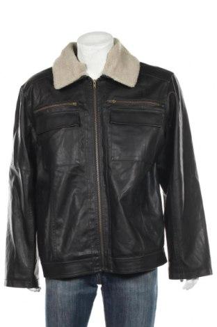 Мъжко кожено яке Junction West, Размер XL, Цвят Черен, Еко кожа, Цена 55,58лв.