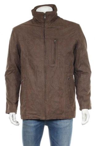 Мъжко кожено яке Nkd, Размер M, Цвят Кафяв, Естествена кожа, Цена 70,51лв.