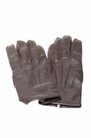 Ръкавици, Цвят Кафяв, Естествена кожа, Цена 27,13лв.