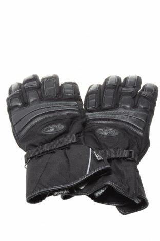 Ръкавици Hipora, Цвят Черен, Полиамид, естествена кожа, Цена 19,40лв.