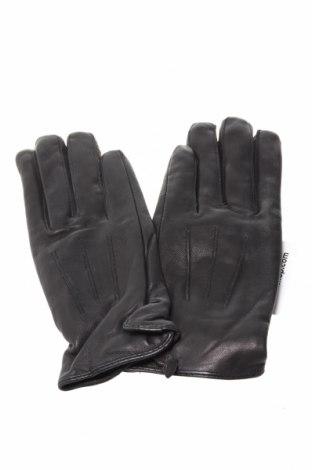 Ръкавици Port Louis, Цвят Черен, Естествена кожа, Цена 32,96лв.