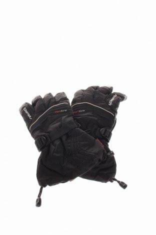 Ръкавици за зимни спортове Reusch, Цвят Черен, Полиестер, полиамид, естествена кожа, Цена 22,85лв.