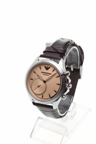 Смарт часовник Emporio Armani, Цвят Кафяв, Естествена кожа, Цена 434,25лв.