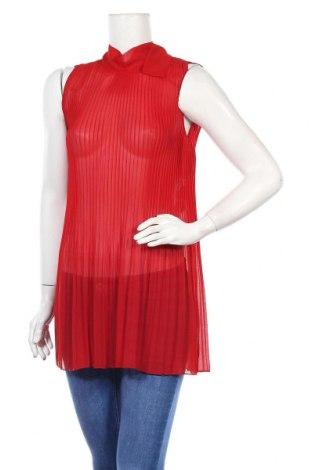 Туника Zara, Размер XS, Цвят Червен, Полиестер, Цена 26,38лв.