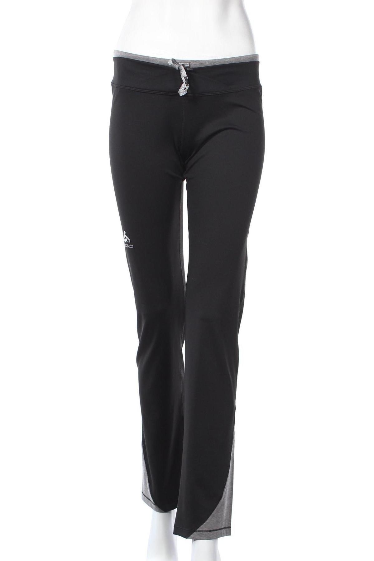 Дамско спортно долнище Odlo, Размер M, Цвят Черен, 93% полиестер, 7% еластан, Цена 59,25лв.