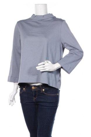 Дамска блуза COS, Размер L, Цвят Син, Памук, Цена 36,00лв.