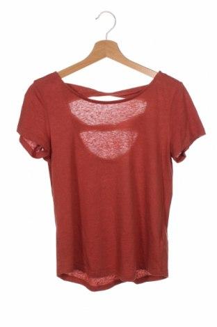 Дамска блуза Edc By Esprit, Размер XS, Цвят Кафяв, 50% памук, 40% полиестер, 10% лен, Цена 19,50лв.