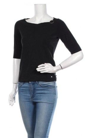 Bluză de femei Esprit, Mărime L, Culoare Negru, 95% bumbac, 5% elastan, Preț 86,21 Lei