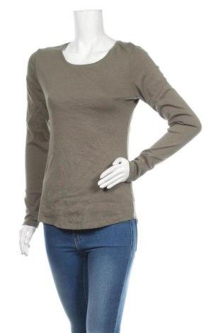 Γυναικεία μπλούζα H&M L.O.G.G., Μέγεθος L, Χρώμα Πράσινο, 97% βαμβάκι, 3% ελαστάνη, Τιμή 10,39€