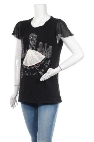 Bluză de femei Liu Jo, Mărime XL, Culoare Negru, Bumbac, poliester, elastan, Preț 93,75 Lei