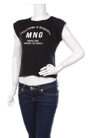 Дамска блуза Mango, Размер M, Цвят Черен, Цена 17,25лв.