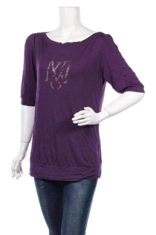 Bluză de femei Mango, Mărime XL, Culoare Mov, Viscoză, Preț 86,21 Lei