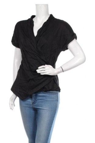 Bluză de femei Marc Cain, Mărime L, Culoare Negru, 59% in, 39% viscoză, 2% elastan, Preț 252,00 Lei