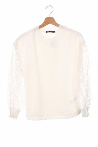 Bluzka damska Zara, Rozmiar XS, Kolor Biały, 93% poliester, 7% elastyna, Cena 83,25zł