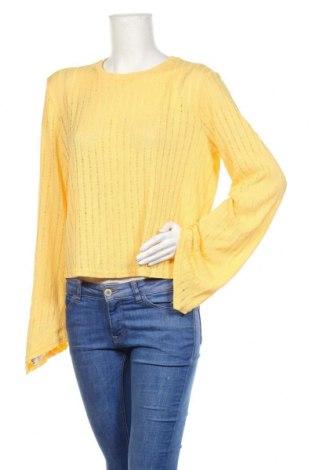 Bluză de femei Zara, Mărime XL, Culoare Galben, Poliester, Preț 57,70 Lei
