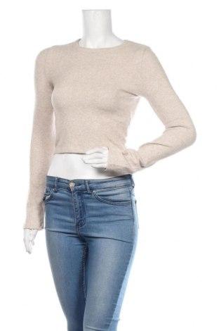 Bluză de femei Zara Trafaluc, Mărime S, Culoare Bej, 55% viscoză, 42% poliester, 3% elastan, Preț 55,70 Lei