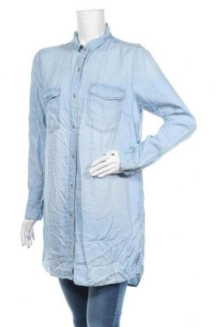 Дамска риза H&M, Размер L, Цвят Син, Лиосел, Цена 20,95лв.