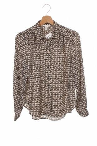 Дамска риза H&M, Размер XS, Цвят Бежов, Полиестер, Цена 19,50лв.