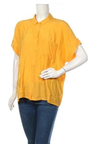 Cămașă de femei Tom Tailor, Mărime L, Culoare Galben, 74% viscoză, 26% poliester, Preț 72,37 Lei