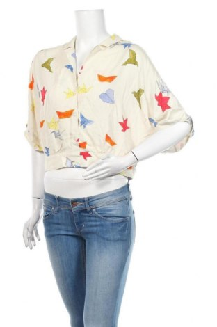 Dámská košile  Zara, Velikost S, Barva Krémová, Viskóza, Cena  383,00Kč