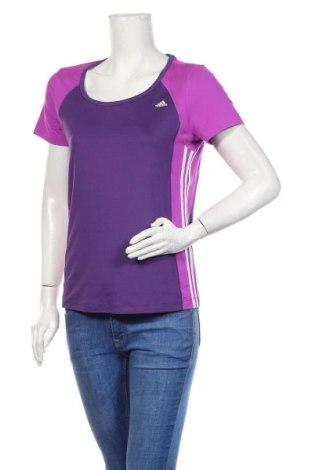 Damski T-shirt Adidas, Rozmiar L, Kolor Fioletowy, Cena 63,00zł