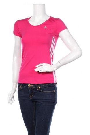 Damski T-shirt Adidas, Rozmiar XS, Kolor Różowy, 86% poliamid, 14% elastyna, Cena 72,00zł