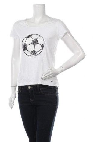 Γυναικείο t-shirt Zabaione, Μέγεθος S, Χρώμα Λευκό, 100% βαμβάκι, Τιμή 14,29€