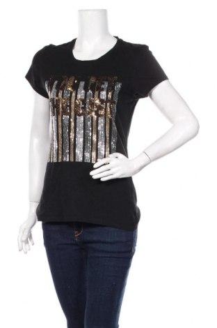 Damski T-shirt Zara, Rozmiar L, Kolor Czarny, Cena 51,75zł