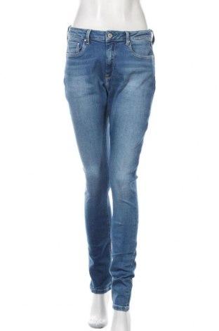 Blugi de femei Pepe Jeans, Mărime M, Culoare Albastru, 93% bumbac, 6% poliester, 1% elastan, Preț 322,43 Lei