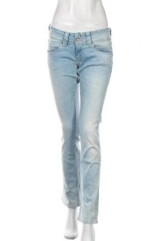 Дамски дънки Pepe Jeans, Размер M, Цвят Син, 93% памук, 6% полиестер, 1% еластан, Цена 126,75лв.