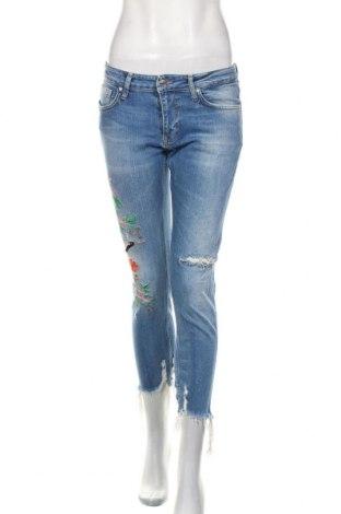 Damskie jeansy Zara, Rozmiar S, Kolor Niebieski, 99% bawełna, 1% elastyna, Cena 85,50zł