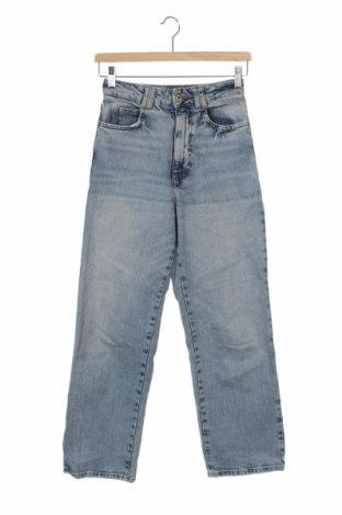 Dámské džíny  Zara, Velikost XS, Barva Modrá, 99% bavlna, 1% elastan, Cena  455,00Kč
