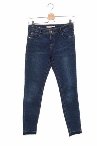 Blugi de femei Zara Trafaluc, Mărime XS, Culoare Albastru, 98% bumbac, 2% elastan, Preț 93,75 Lei