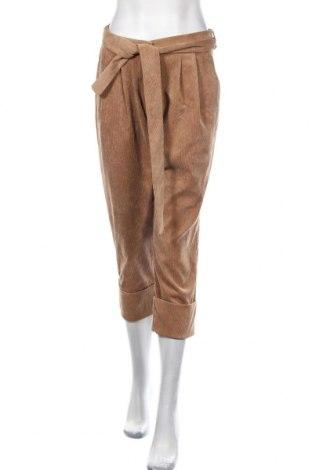 Pantaloni de velvet de femei Please, Mărime M, Culoare Bej, 85% poliester, 12% poliamidă, 3% elastan, Preț 139,26 Lei